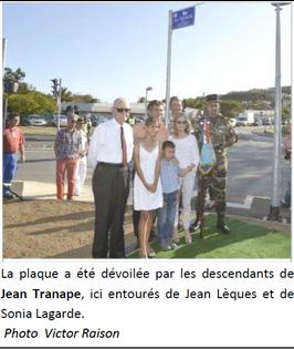 * Nouméa honore Jean TRANAPE