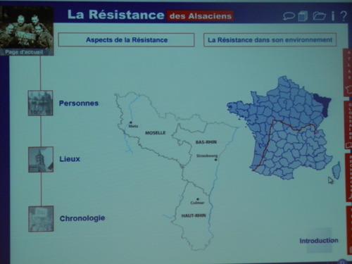 * La  Fondation de la Résistance et l'AERIA expose sont travail sur les Alsaciens dans la Résistance