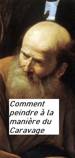 """Dessin et peinture - vidéo 2958 : Comment peindre à la manière du Caravage (1571-1610) ? - Le portrait dans """"le sacrifice d'Isaac"""" 1603."""