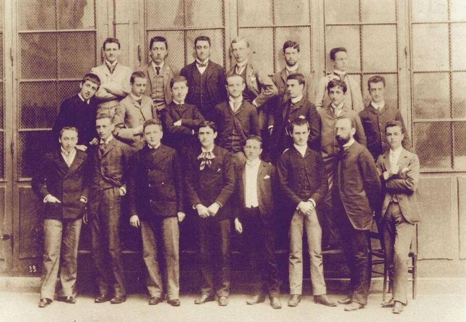 Marcel Proust,  élève du lycée Condorcet en 1888/1889 (photo. Pierre Petit)