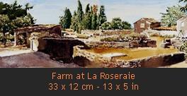 Aquarelles Miniatures English Ferme de la Roseraie Small