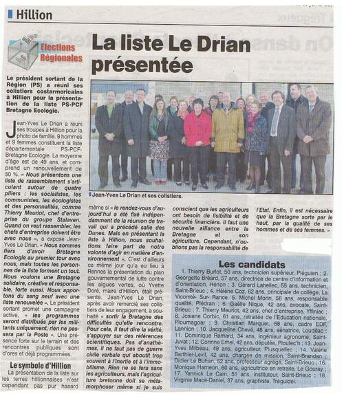 Rencontre avec Jean-Yves Le Drian, pas encore Ministre 11/02/2010