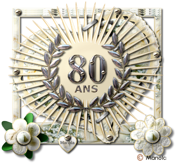 Scrap digitale pur relief - les anniversaires