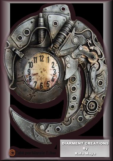 Tube Horloge Steapunk 2993