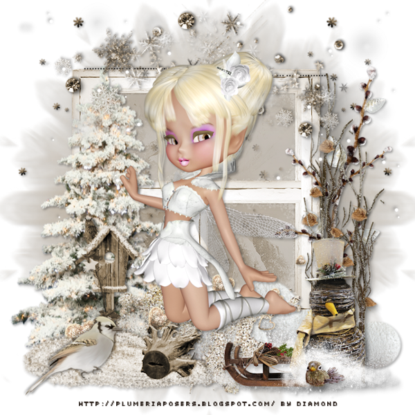 "Tutoriel ""Little Winter Girl"" de Lisa creations"