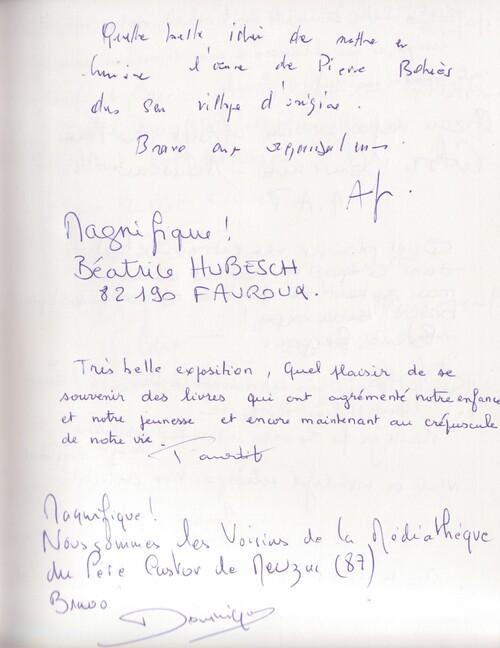 Témoignages lors de l'exposition Pierre Belvès 2017