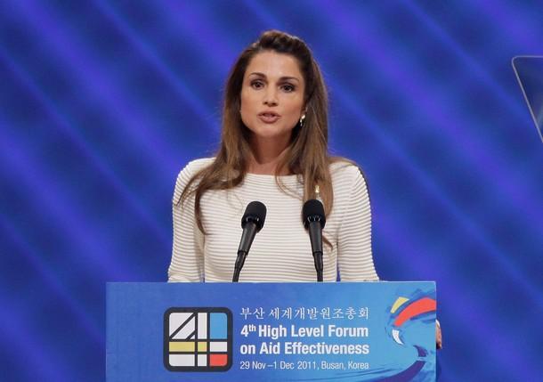Rania contre le sida en Corée