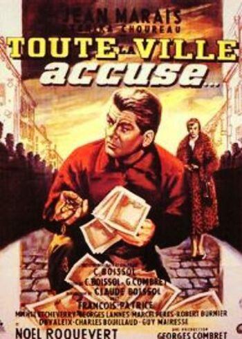 TOUTE LA VILLE ACCUSE - BOX OFFICE JEAN MARAIS 1956