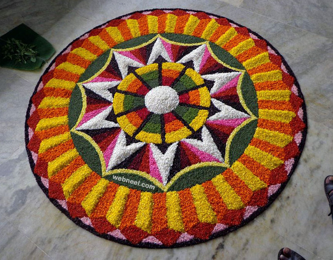 best onam pookalam design