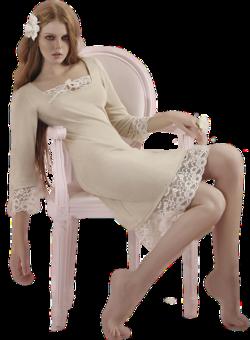 femmes assise