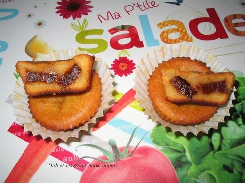 Muffins aux yaourt fourrés aux confits de papaye