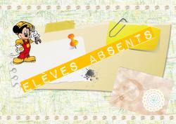 Elèves absents..gestion classe, classement, rangement