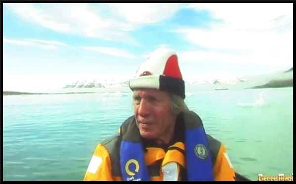 Pierre Magès a présenté, sur grand écran, le film de son voyage au Spitzberg....