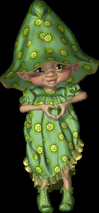 Tubes cookies vert