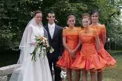 La mariée et son cortège