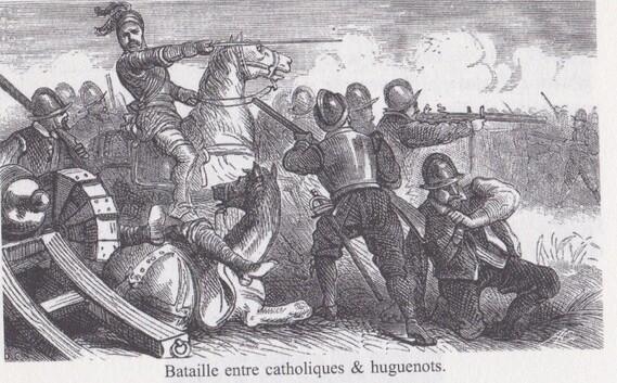 Bataille entre Catholiques et Huguenots