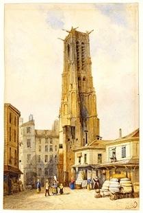 La rue St Martin de la tour St Jacques au gibet de Monfaucon
