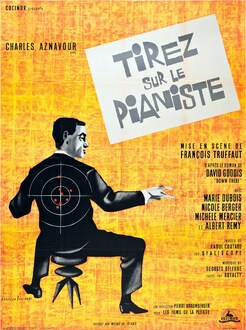 TIREZ SUR LE PIANISTE - AFFICHE FRANCE