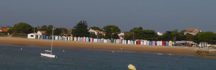 Oleron et les cabines de bain de Saint Denis d'Oléron