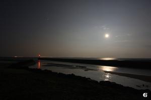 Pleine Lune au port de Boyardville