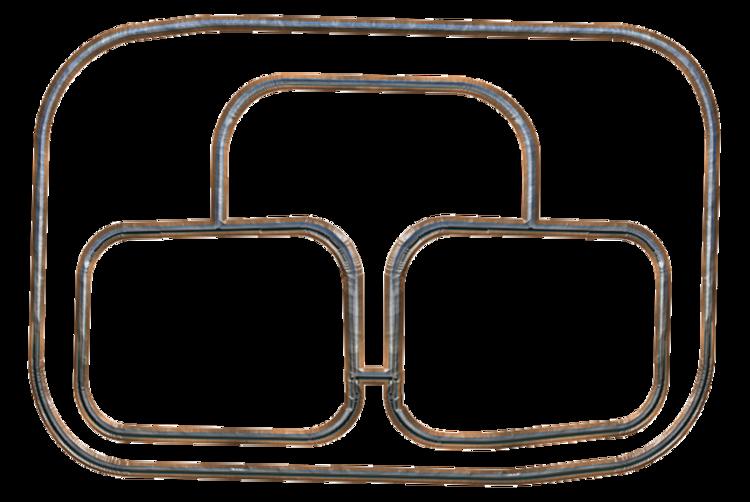 Grands cadres vides bords metalliques