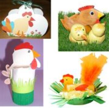 Bricolages poules Pâques