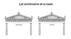 L'affiche des anniversaires de la classe