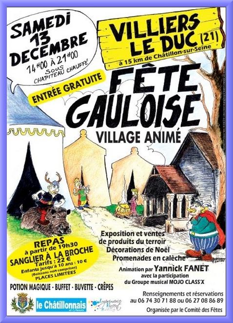 Une grande fête gauloise aura lieu à Villiers le Duc....