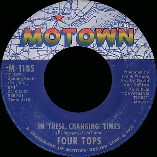 "The Four Tops : Album "" Changing Times "" Motown Records MS 721 [ US ]"