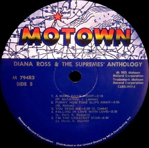 "Diana Ross & The Supremes : Album "" Anthology "" Motown Records M9-794A3 [ US ]"