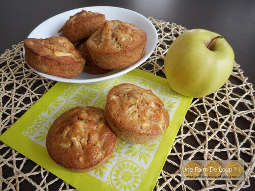 Muffins moelleux pomme / cannelle
