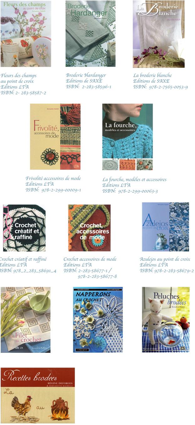Couvertures et références des ouvrages de Bernadette Baldelli.