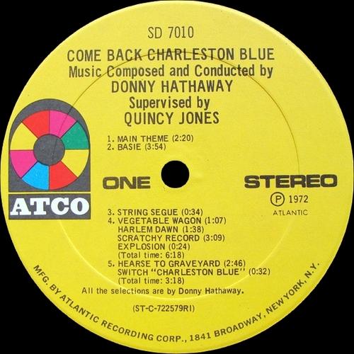 "Donny Hathaway : Album "" Come Back Charleston Blue (Original Motion Picture Soundtrack) "" Atco Records SD 7010 [ US ]"