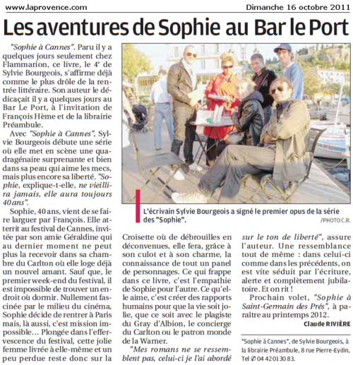 Cassis : Les aventures de la festivalière Sophie au Bar Le Port