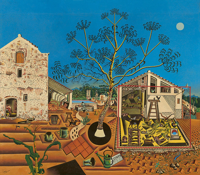 "Joan Miró, ""La Ferme"", 1921-1922, États-Unis, Washington National Gallery of Art, don de Mary Hemingway, 1987"