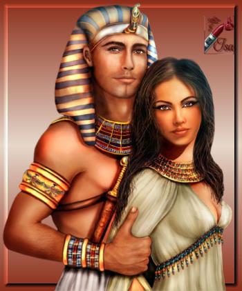 EG0006 - Tube roi et reine d'Egypte