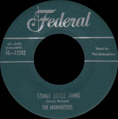 "The Midnighters : Album "" The Midnighters Sing Their Greatest Hits "" Federal Records 295-90 [ US ]"