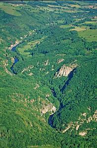 La valle e de la Sioule Les gorges de Chouvigny