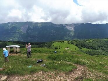Sur le Crêt de Chalam - Vue sur les Hautes crêtes du Jura -