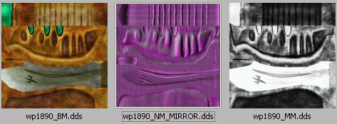Les 3 images qui mappent le sabre