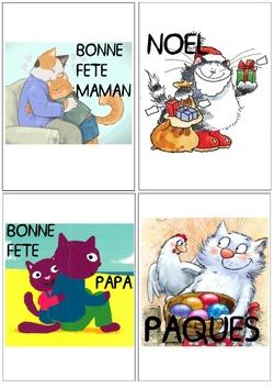 Calendrier linéaire chats