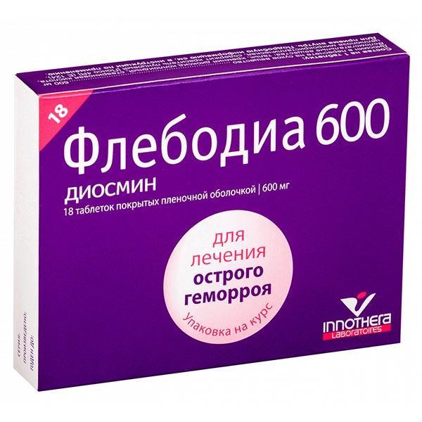 Отзывы о таблетках флебодиа 600 при геморрое
