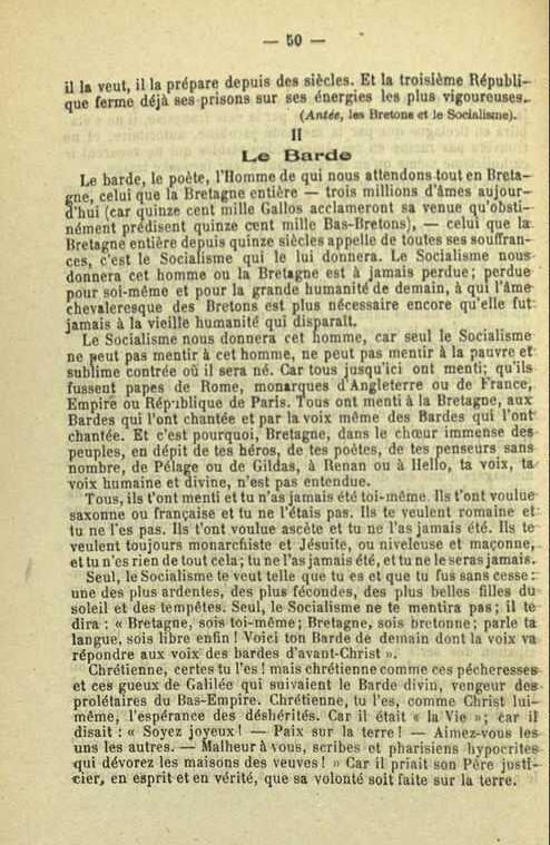 Document historique : LA BRETAGNE LIBERTAIRE - ou quand le Premier Emsav breton épousait la cause de la Révolution mondiale prolétarienne