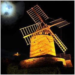 le moulin de Collioure au clair de lune (2014)