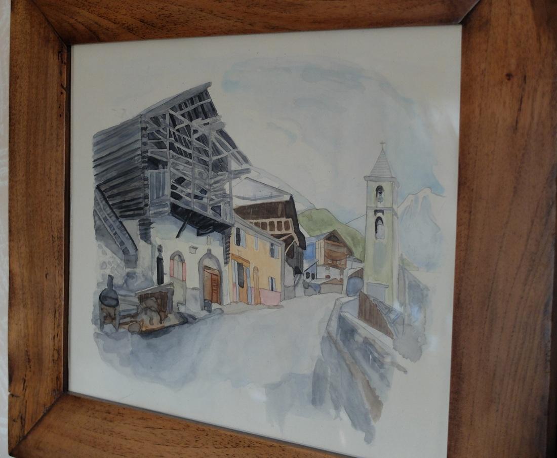 Saint Véran se visite aussi en aquarelle ....