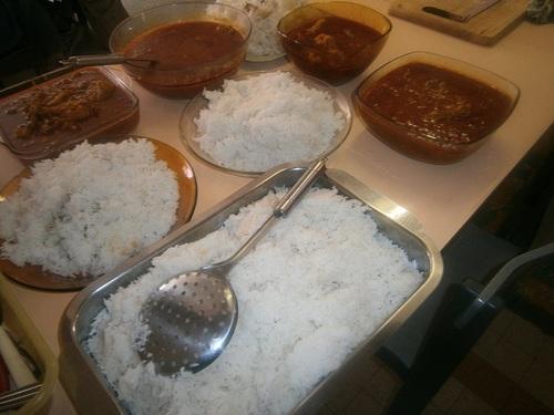 les  repas préparé par les atelier familles