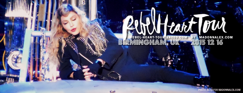 Madonna Rebel Heart Tour Birmingham