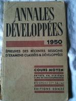 Livres d'écoles anciens - Sciences, anglais, annales d'examens...