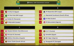 Phase de Poules Ligue des Champions Africaine