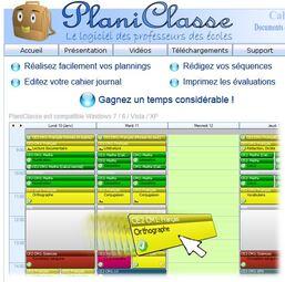 Logiciel pour préparer la classe - Planiclasse